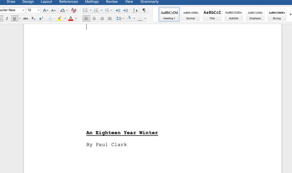 An Eighteen Year Winter Word Doc